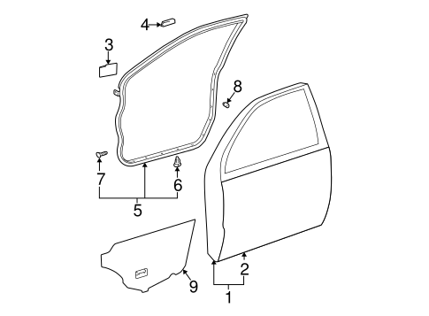 BODY/DOOR & COMPONENTS for 2005 Toyota Camry #1
