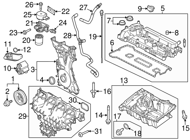 2005 2019 Ford Inlet Tube Gasket 3m4z 6625 Aa