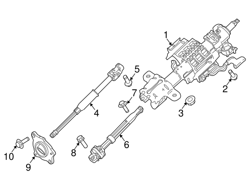 Steering Column Assembly for 2015 Ford F-350 Super Duty #0
