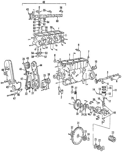Engine for 1991 Volvo 740 | Volvo Parts Counter | Volvo B23 Engine Diagram |  | Volvo Parts Counter