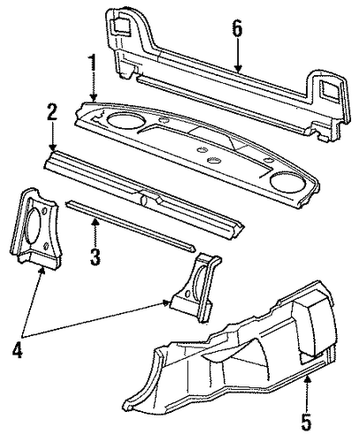 Tray Assembly, Rear *B44L* (Palmy Blue)