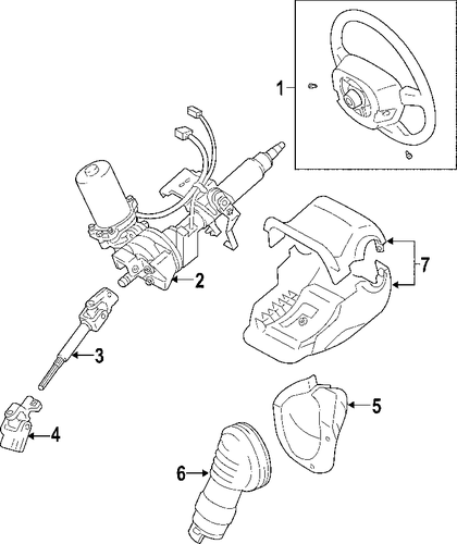 STEERING/STEERING COLUMN for 2011 Toyota Yaris #1