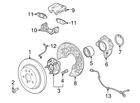 [SCHEMATICS_4FR]  Rear Brakes for 2013 Buick Encore | GM Parts Online | Buick Brakes Diagram |  | GM Parts Online