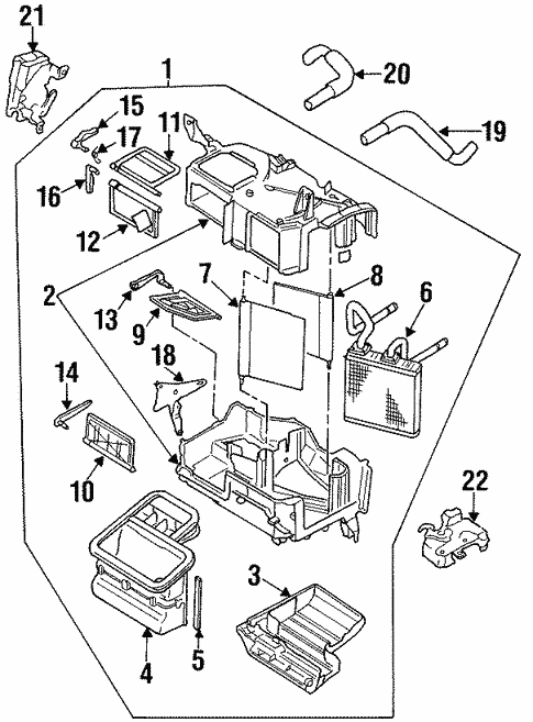 Heater Components For 1992 Subaru Svx