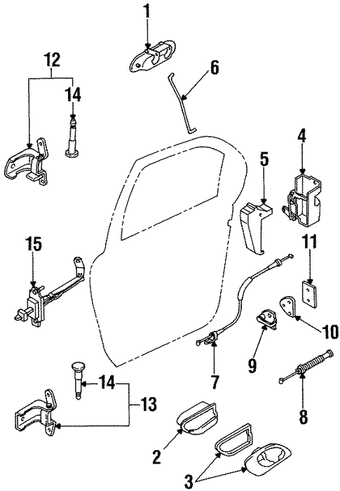 Rear Door for 1996 Ford Contour #1
