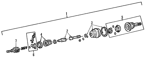 Drive Axles for 1993 Chrysler Town & Country #0