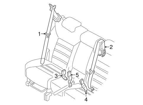Second Row Seat Belts For 2017 Kia Sorento