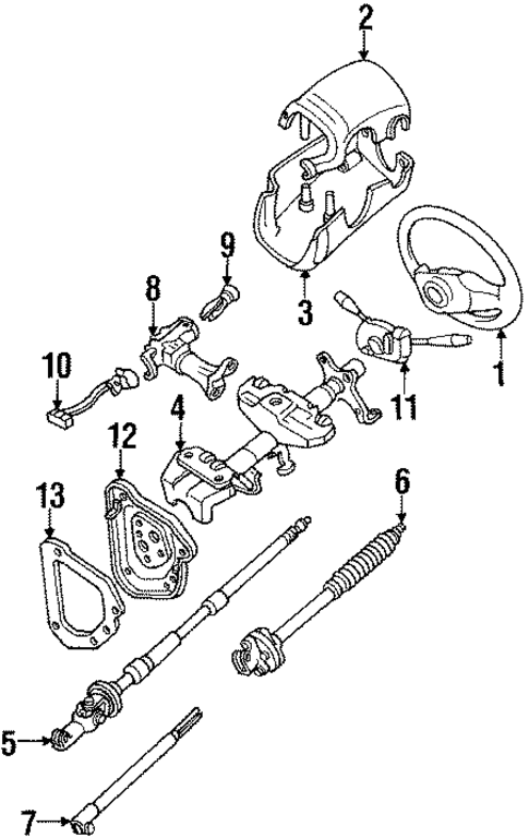 steering column components for 1994 toyota 4runner