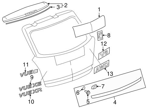 Saturn Vue Exhaust Diagram Also With 2008 Saturn Vue Parts Diagram