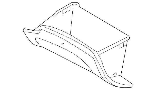 Genuine Hyundai 84540-3N000-RY Glove Box Cover Assembly