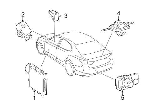 Electrical Components For 2016 Lexus Is200t