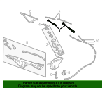Wiper Arm - Ford (5W7Z-17526-AA)