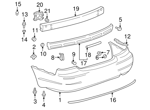 BODY/BUMPER & COMPONENTS - REAR for 2000 Toyota Avalon #1