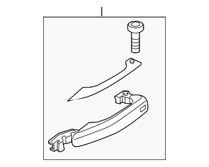 Handle, Outside - Audi (4H0-837-205-GRU)