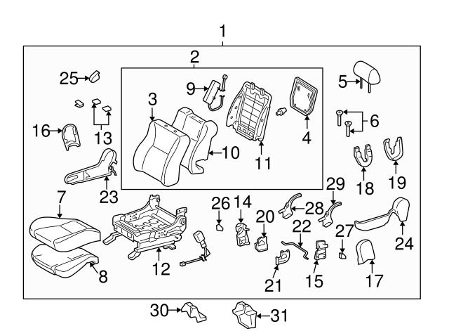 TOYOTA Genuine 71071-02D40-B0 Seat Cushion Cover