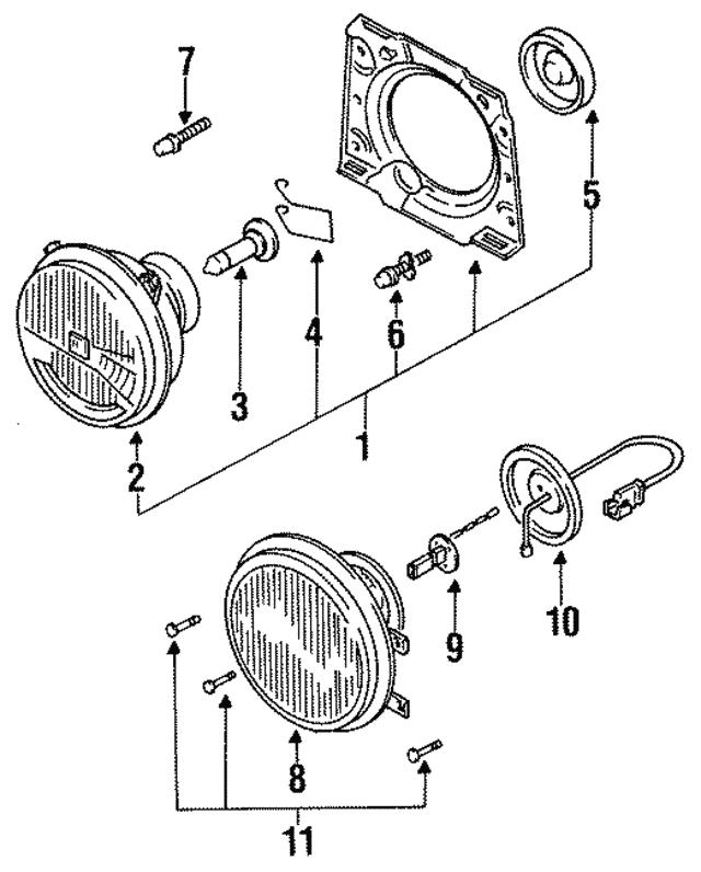 1984 2001 Volkswagen Headlamp Bulb N 100 666 02