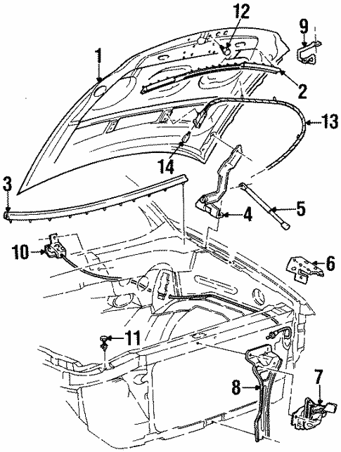 hood  u0026 components for 2000 lincoln navigator