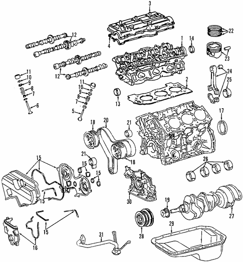 Genuine Oem Engine Parts For 1999 Toyota 4runner Sr5