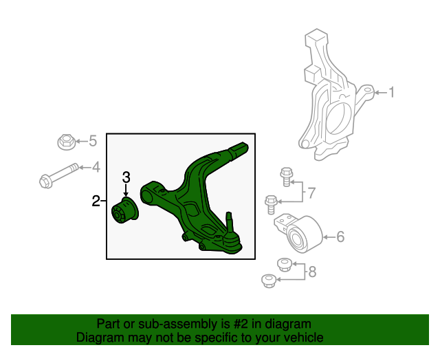 Front Suspension Ford GB5Z-3079-H Arm Assembly