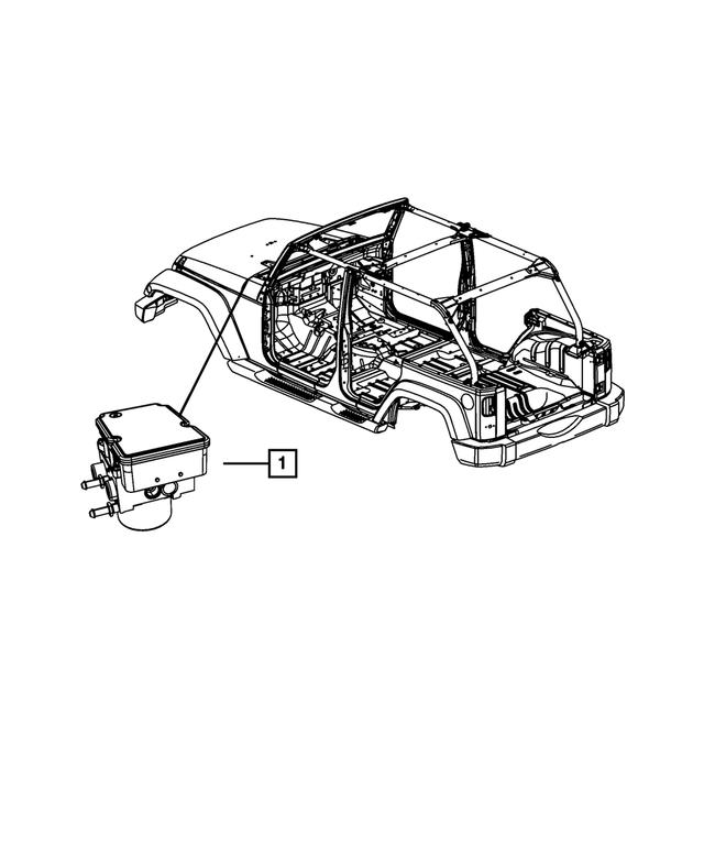 Genuine Chrysler 68194695AB Anti-Lock Brake System Module
