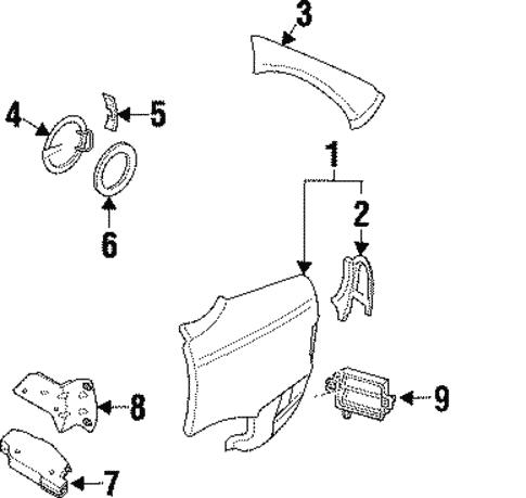 body/fuel door for 1999 cadillac catera