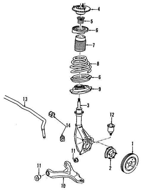 Front Suspension for 1991 Pontiac Grand Prix #0