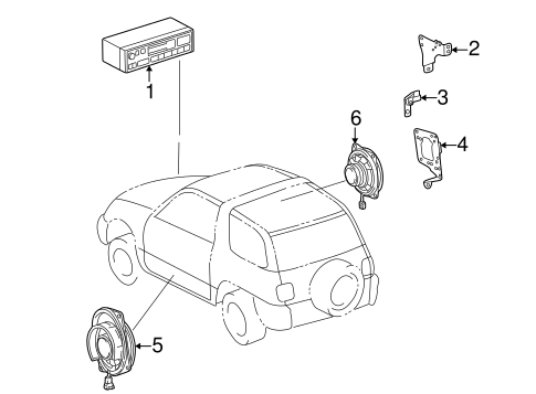 BODY/SOUND SYSTEM for 1997 Toyota RAV4 #1