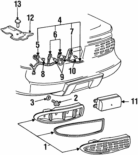 Combination Lamps For 1997 Pontiac Firebird Trans Am