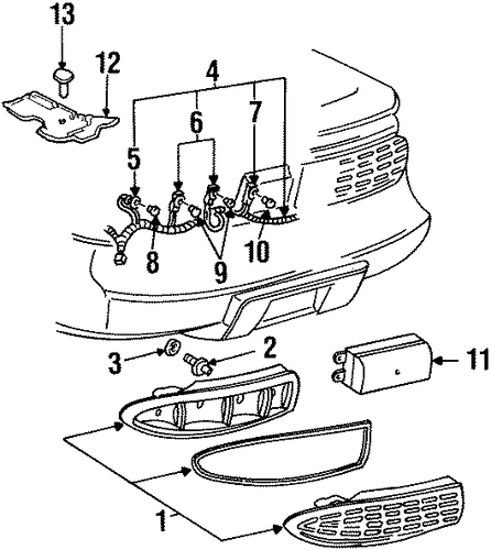 oem 1995 pontiac firebird combination lamps parts
