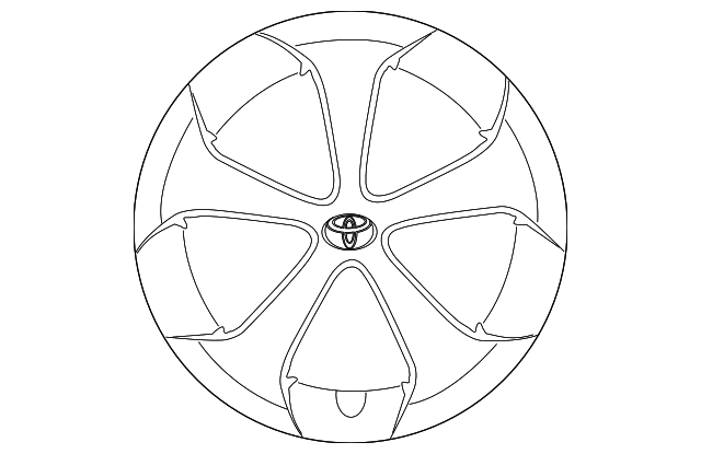 genuine wheel cover 42602