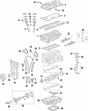 [SCHEMATICS_4UK]  Engine for 2013 Chevrolet Malibu | GM Parts Online | 2013 Chevy Malibu Engine Diagram |  | GM Parts Online