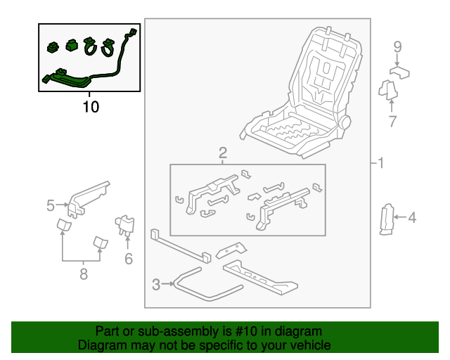 Honda Genuine 82136-T5R-A11 Seat Cushion Frame