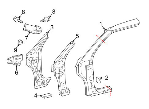 BODY/HINGE PILLAR for 2014 Scion tC #1