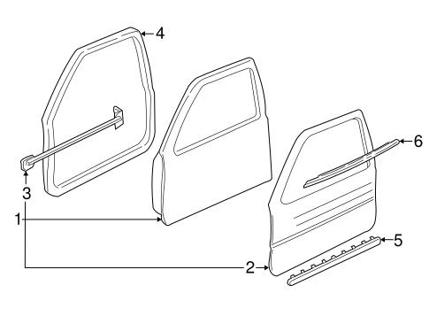Door Components 1998 Buick Regal Oem New Gm Parts