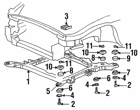 suspension mounting for 2001 oldsmobile aurora #0