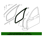 Door Weather-Strip - Hyundai (82140-3N000)