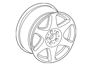 Wheel, Alloy - Mercedes-Benz (6-6-47-2127)