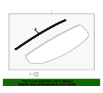 Spoiler Weatherstrip - Ford (BB5Z-7843720-A)