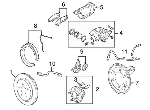 brakes/parking brake for 2010 cadillac cts