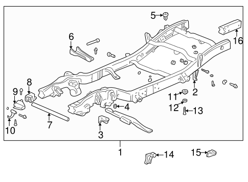 Frame & Components for 2000 GMC Yukon #0