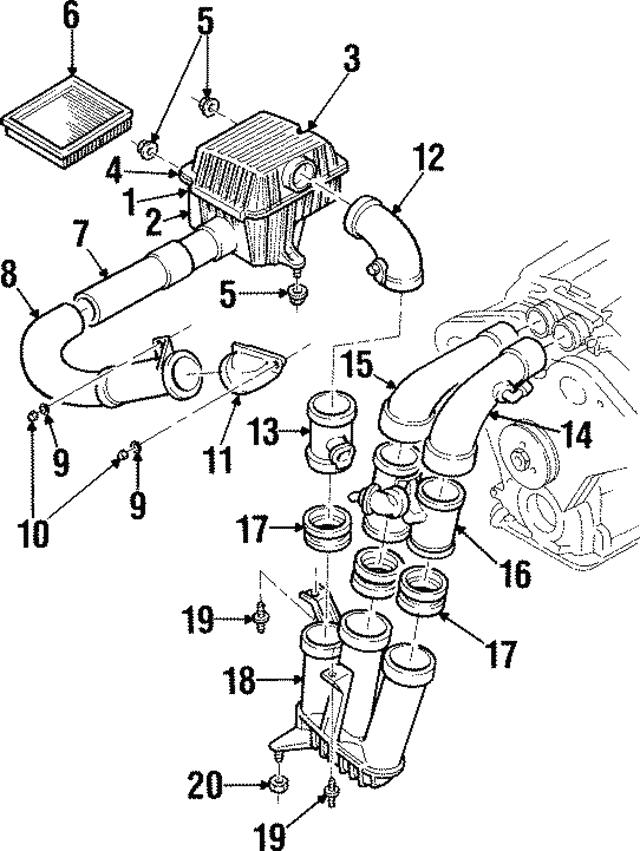 1997 1998 cadillac catera mass air flow sensor 90541591 Air Flow Sensor Board mass air flow sensor gm 90541591
