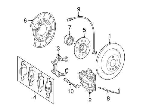 Brake Components For 2011 Mercedes Benz Ml 450