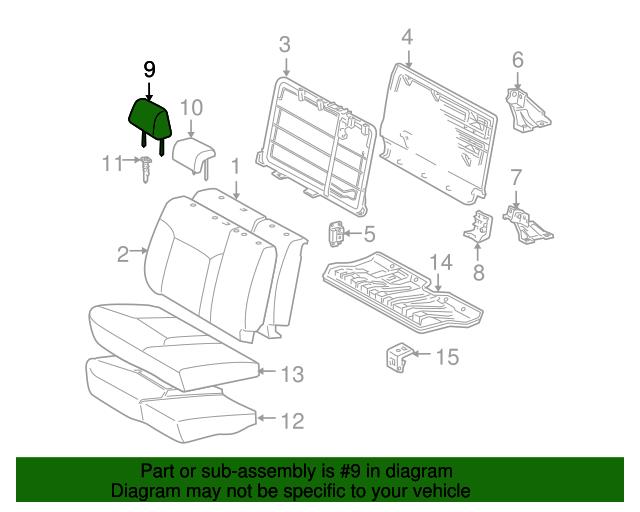 TOYOTA Genuine 71940-04041-B0 Headrest Assembly