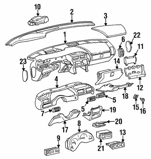 Instrument Panel For 1996 Pontiac Grand Prix