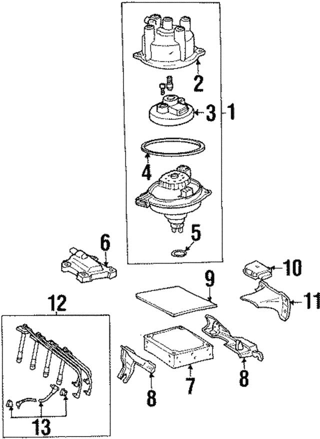 distributor cap - toyota (19101-74110)