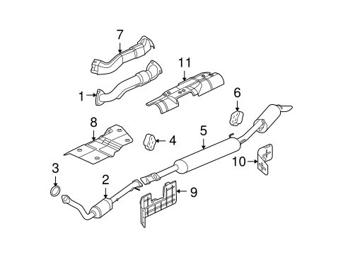 diagram for 2006 chevy uplander engine exhaust components for 2006 chevrolet uplander gmpartsdirect com  exhaust components for 2006 chevrolet