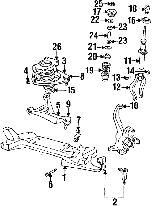 Suspension Components For 1998 Dodge Stratus
