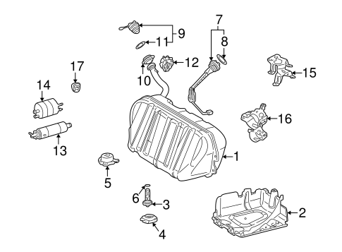 Fuel System Components for 2001 Mercedes-Benz CL 500 #1