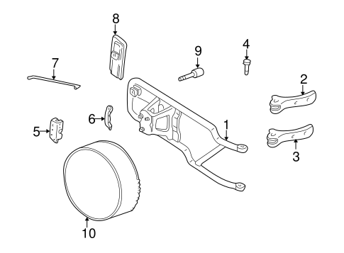 Body/Carrier & Components for 1995 Chevrolet Blazer #2