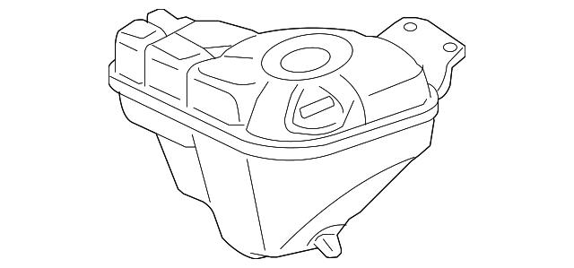 GENUINE Engine Coolant Recovery Tank 4E0 121 403G fits 2004-2010 Audi A8 Quattro